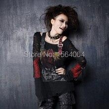Punk Rave Womens Gothic Cardigan Tee Shirt Top Visual Kei Printed fashion S-XXL