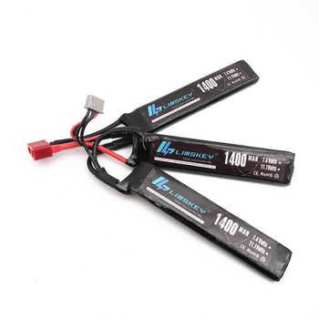 Limskey Power Polymer Lipo Battery 11.1V 1400mah 25C 3S T Plug For Mini Airsoft Guns Battery RC Model Bateria - DISCOUNT ITEM  31 OFF Toys & Hobbies
