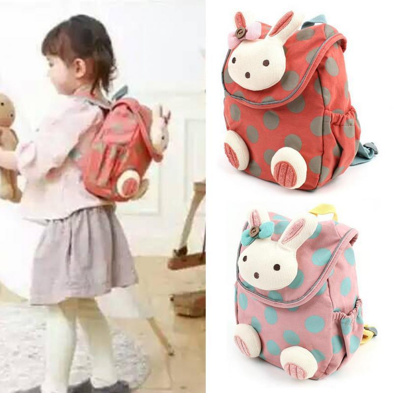 d73d8067e077 новый высокое качество анти-потерянный для маленьких детей милые 3д кролик  точка рюкзак для девочек