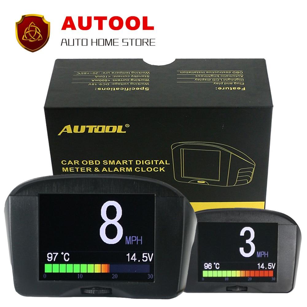 imágenes para Indicador de temperatura del agua medidor de voltaje digital medidor de velocidad del tacómetro pantalla OBD equipo de conducción de conducción pantalla de ordenador PNP