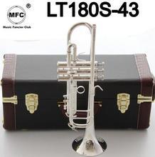 Фабричная розетка Bach Stradivarius профессиональные покрытые Музыкальные инструменты Profesionales мундштук Bb Труба LT180S-43 Silve