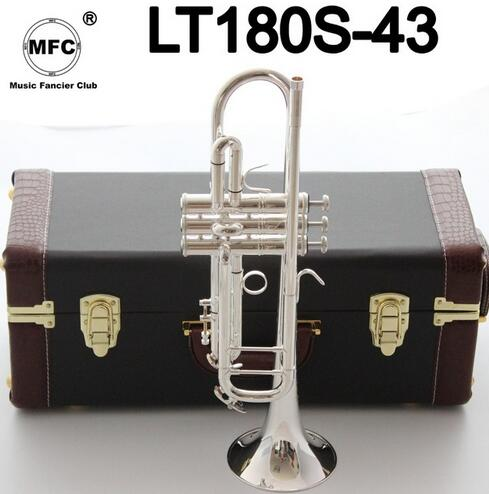 Factory Outlet Bocal Bb Trompete Bach Stradivarius Profissional Banhado Instrumentos Musicales Profesionales LT180S-43 Silve