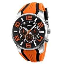 Unisex orange quartz wristwatch men women relogio masculino sport watches adjustable silicone waterproof fashion dropship clock