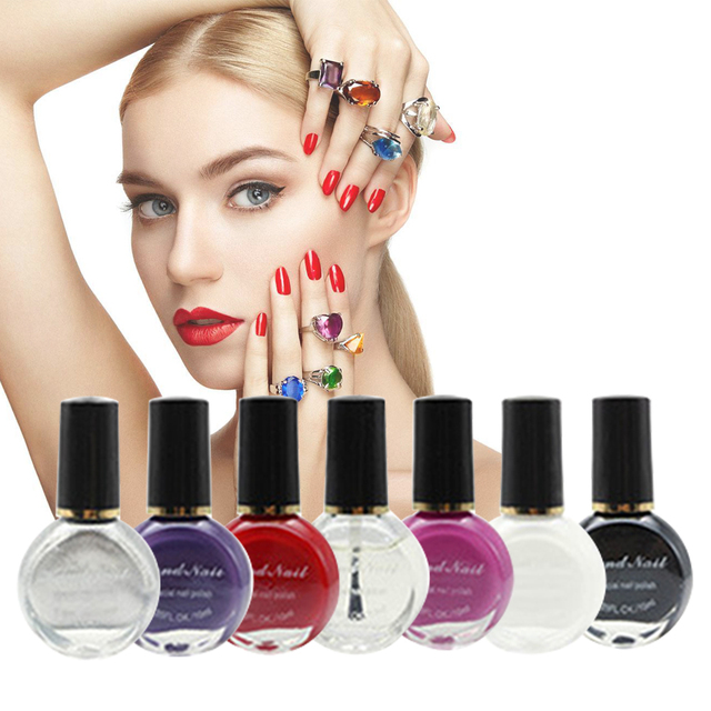 7 Colors 10ml Bottle Nail Polish Set Professional Nail Art Printing