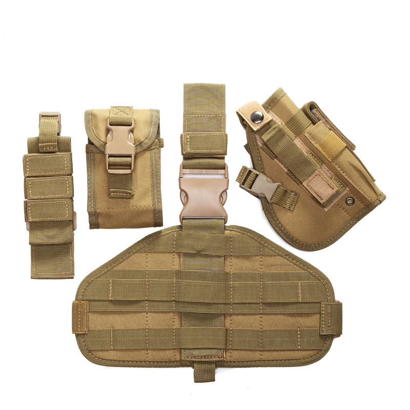 High Quality Tactical Thigh Pistol Holster Adjustable Military Pistol Drop Leg Thigh Holste Pouch Glock 17 19 23 32 36 in Holsters from Sports Entertainment