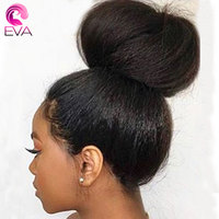 150% Density Kinky Straight Lace Front Human Hair Wigs With Baby Hair Brazilian Remy Hair 13x6 Lace Front Wigs Pre Plucked Eva