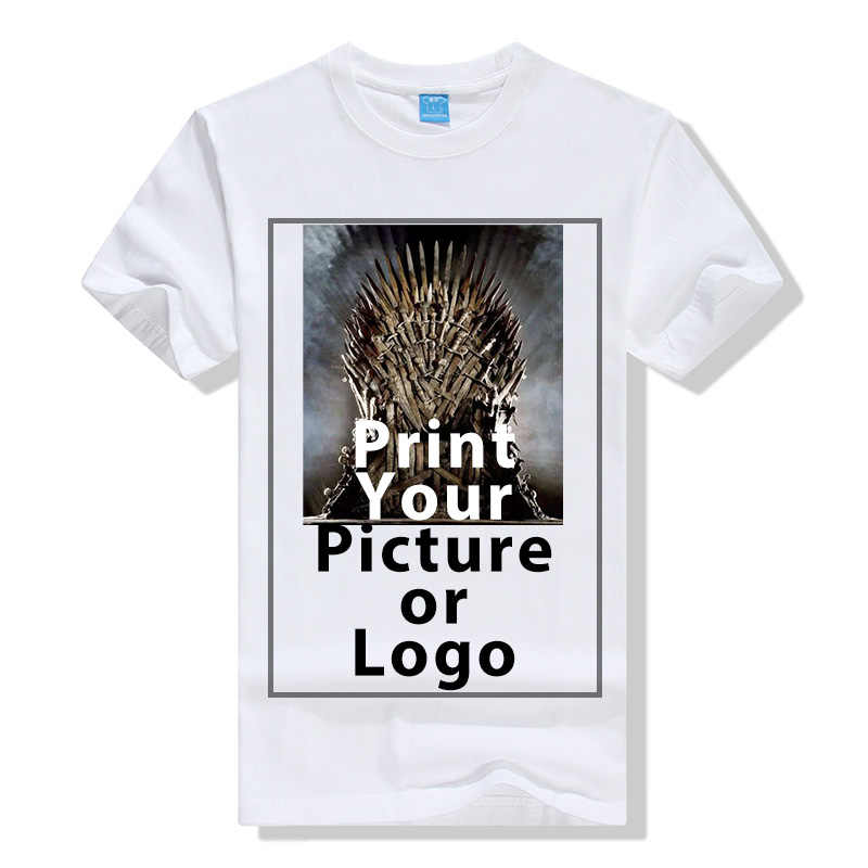 Мужская повседневная хлопковая футболка «сделай сам свой собственный» Футболка с принтом на заказ композиция рисунки/Логотип Женская футболка с коротким рукавом топы футболки