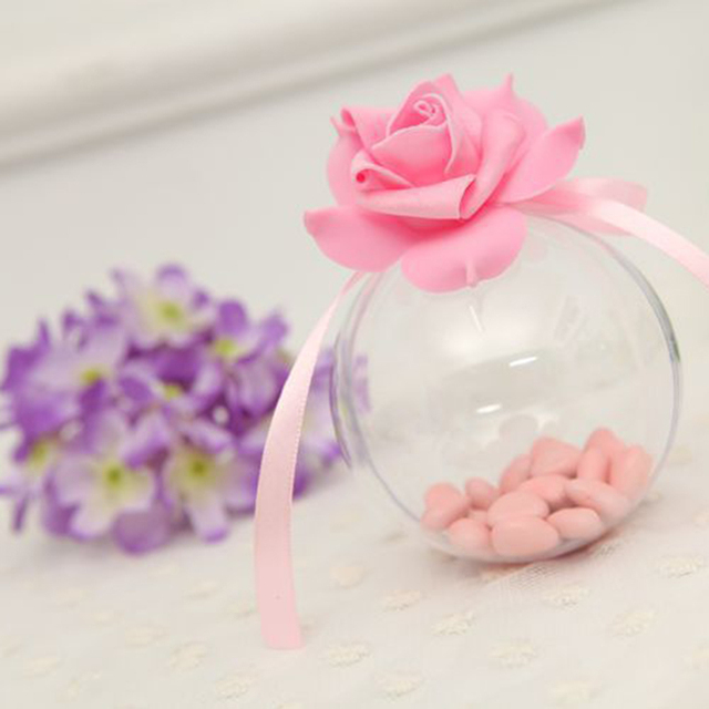 1 Pc Acrylic Ball Clear Plastic Ball for Flower Preservation Container Candy Box Transparent Hollow Sphere Hanging Decor P50
