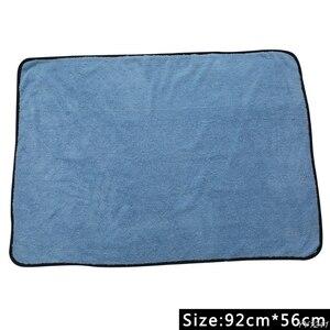 Image 3 - Large Microfiber Drying Towel Car Cleaning Cloths Cloth Auto Care 90x60cm Blue Car Wash Maintenance Kit