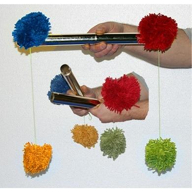Pom Pom Stick classique chinois tours de magie magicien scène gros plan accessoires Illusions accessoires Gimmick mentalisme classique jouet amusant