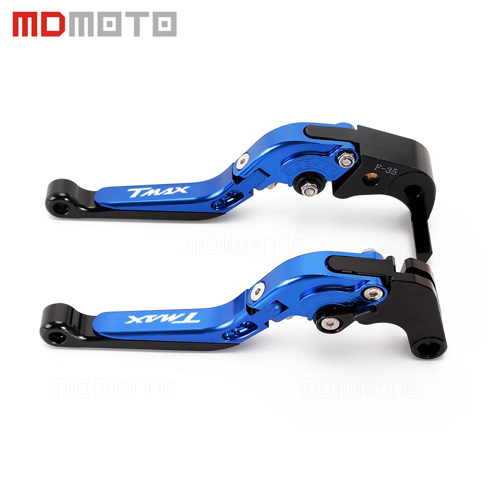 цена на Motorcycle CNC Aluminum Folding Motorbike Brake Clutch Levers Set For Yamaha T MAX T-max 500 TMAX 530 2008 2009-2015 2016 2017