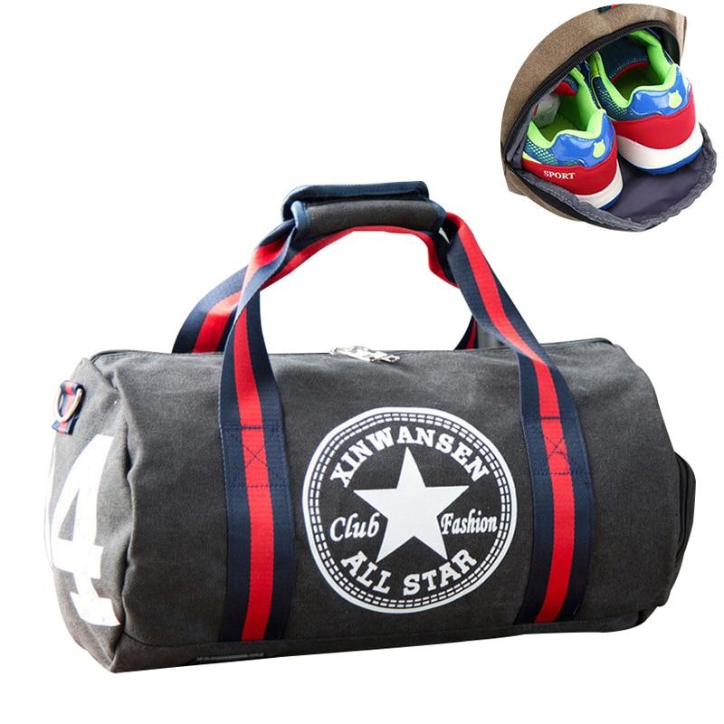 Billede af Unisex Gym Bags Sport Bag Men Fitness Football Sports Bag Women Yoga Canvas Handbag Shoulder Travel Outdoor Bagpack Sport Bags