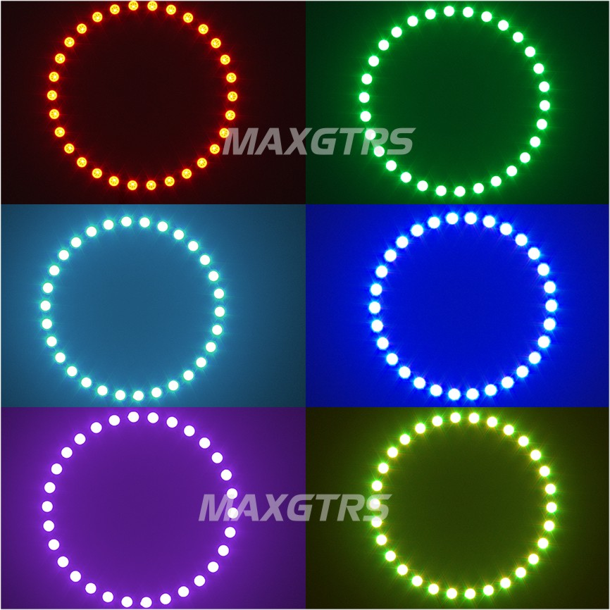 Multi-warna 60mm 70mm 80mm 90mm 100mm 120mm Malaikat Mata 5050 RGB - Lampu mobil - Foto 6