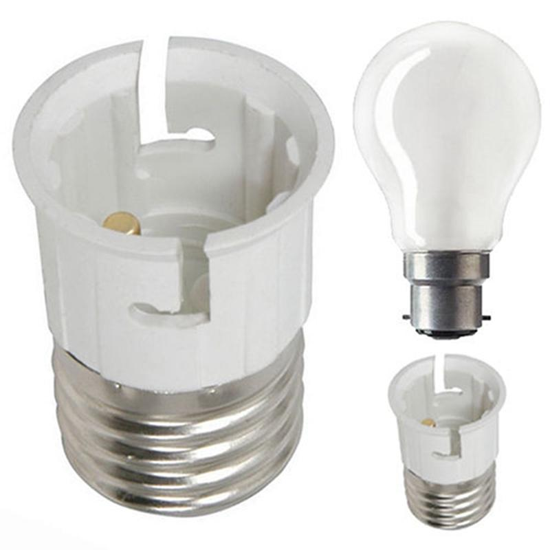 LumiParty E27 to B22 Light Lamp Bulb Fireproof Holder Adapter Converter Socket Base Converter Edison Screw to Bayonet Cap