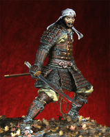 1/18 90MM ancient Armored Soldier (WITH BASE )Resin figure Model kits Miniature gk Unassembly Unpainted