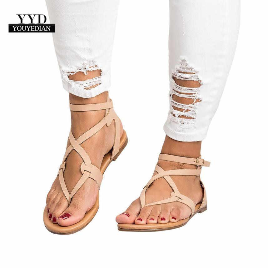 65fdfc9c535 YOUYEDIAN (envío desde RU) sandalias de verano de las señoras de las  mujeres sandalias