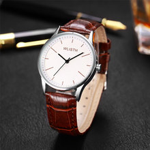 лучшая цена Fashion Faux Leather Mens Analog Quarts Watches Classic Men Wrist Watch 2019 Men Watches Top Brand Luxury Casual Watch Clock