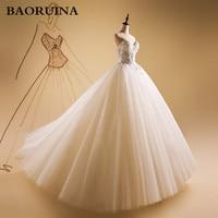 Luxurious Bling Strapless Wedding Dresses Corset Bodice Sheer Bridal Ball Crystal Pearl Beads Rhinestones Tulle Wedding