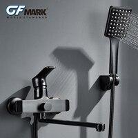 GFmark Vintage Shower Faucet With Shower Head Classic ORB Surface Bagno Doccia Mixer Tap Hand Held Bathtub Shower Faucet Set