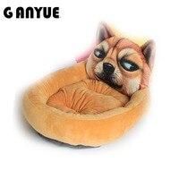 Ganyue 3D Realistyczne Wzór Pet Bed Waterproof Legowisko dla Psa wzory Sweety Moistureproof Zachować Czyste Zwierzęta Łóżko Puppy Dog House łóżko