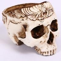Flower Pot Skull Figurine Skull Money Banks Storage Box Home Decoration Crafts Birthday Gifts L3065