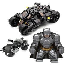 цена на Decool Superheros Compatible Legoeing Batman Vs Superman Batpod Batmobile Movie Model Building Kits Kids Toys Children Bricks