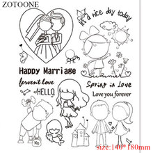 Zotoone Vintage Diy Wedding Stamp Decoration Transpa Os Stamps For Card Making Clear Sbooking E