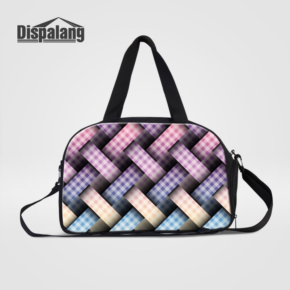 Dispalang Travel Bag Large Capacity Weave Women Hand Luggage Travel Duffle Bags Canvas Weekend Bags Multifunctional Travel Bags
