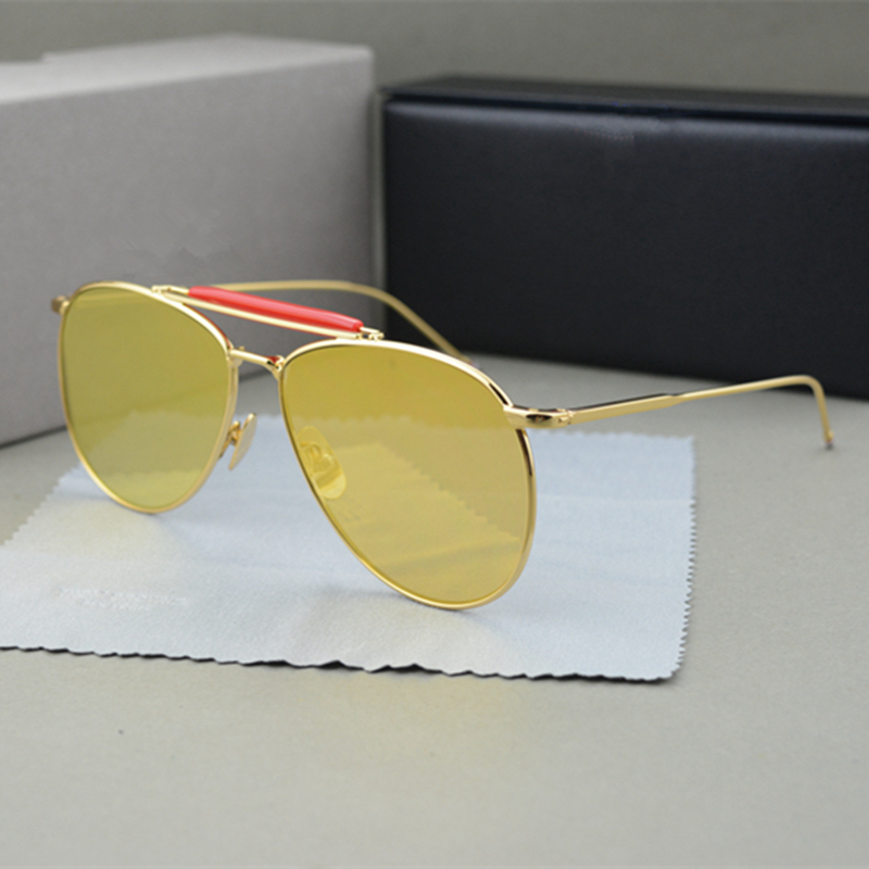 New York Brand Thom High Quality Sunglasses Women And Men aviator sunglasses TB015 oculos de sol With Original Box