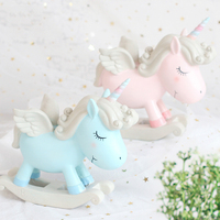 18*16.5CM Creative Unicorn Ornaments Original Handmade Home Gifts Living Room Bedroom Resin Craft Decorations 1 PCS