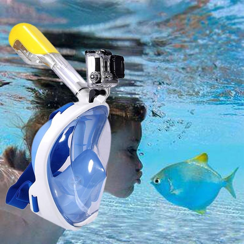 Nuoto Diving Snorkeling Maschera Intera Superficie Scuba per Gopro (tipo Infantile) S/M