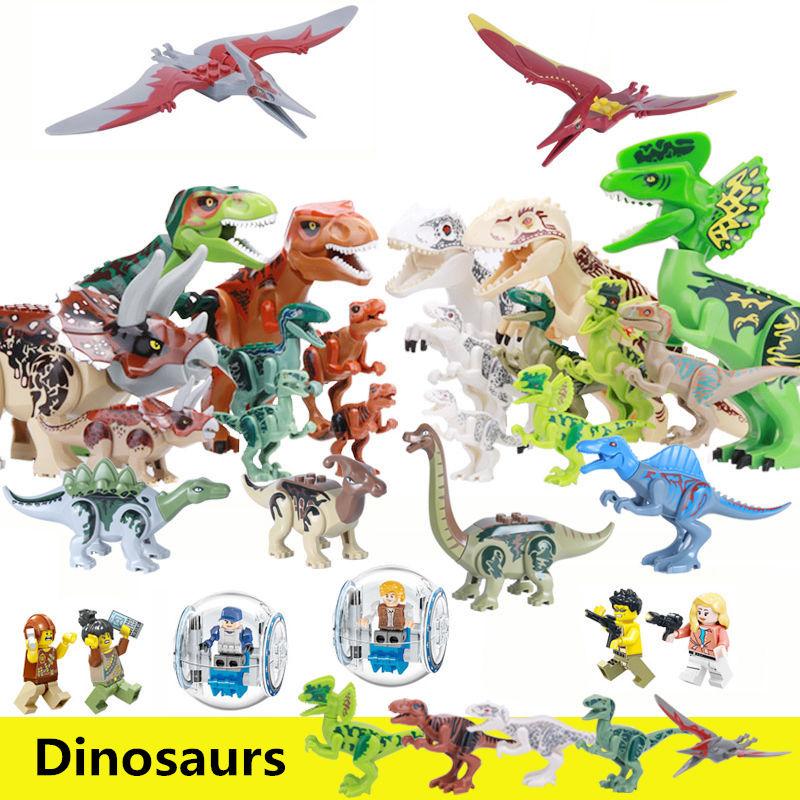 все цены на building blocks Jurassic dinosaur big dinosaur figures movie Compatible with legoe toys park building blocks star wars for child онлайн
