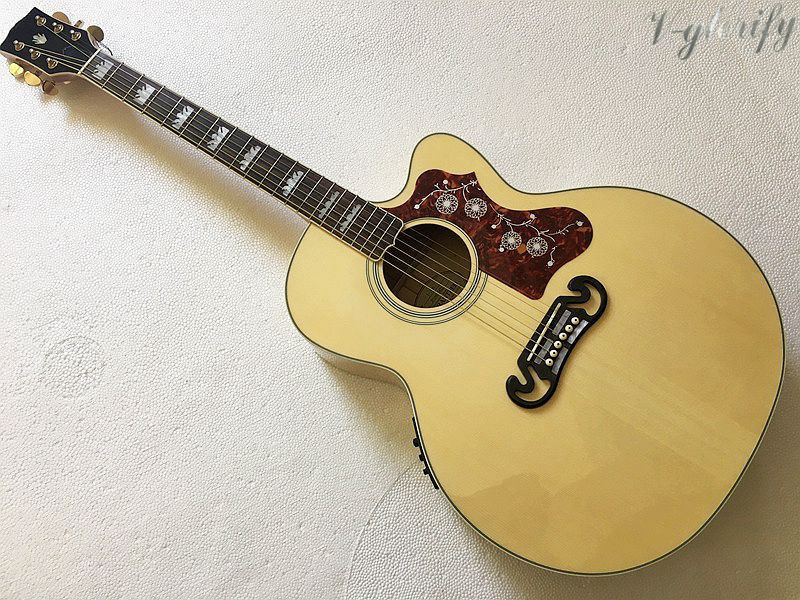 good quality 42inch jumbo acoustic-electric guitar