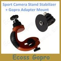 Para GoPro / Xiaomi yi accesorios para bicicleta Clip de montaje fijo sostenedor del trípode adaptador de montaje para GoPro Hero 4 3 3 + SJ4000