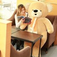 Супер огромный плюшевый мишка игрушка большая любовь шарф желтый медведь кукла подарок около 200 см