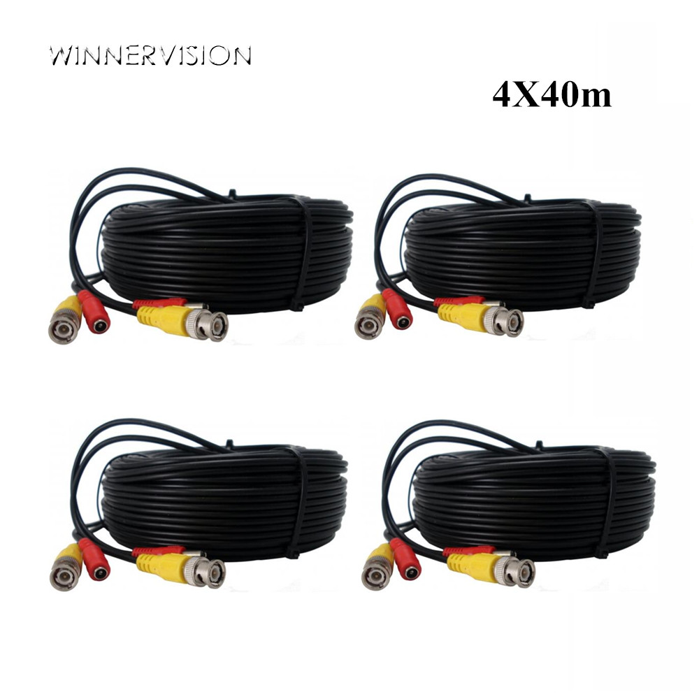 4PCSX40M BNC Cable Video Output CCTV Cable BNC DC Plug Cable 2 in 1 for CCTV Security Camera System dc bnc шнур 10м