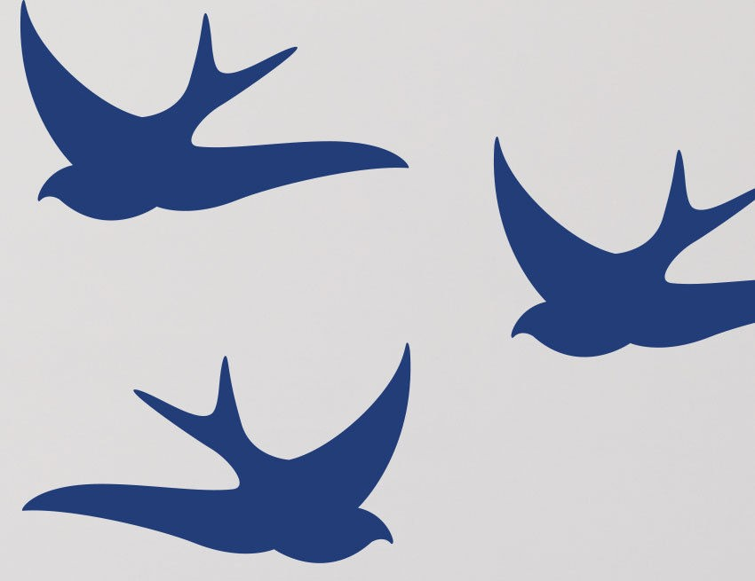 Ins Hot Sale Diy Swallow Wall Stickers Boy Girls Bedroom Home Decor