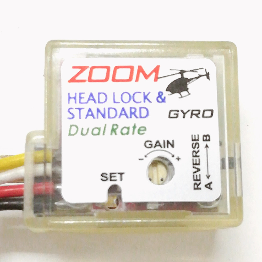 ZOOM Dual Rate Head Lock & Standard Small Size Piezoelectric Ceramic Gyro
