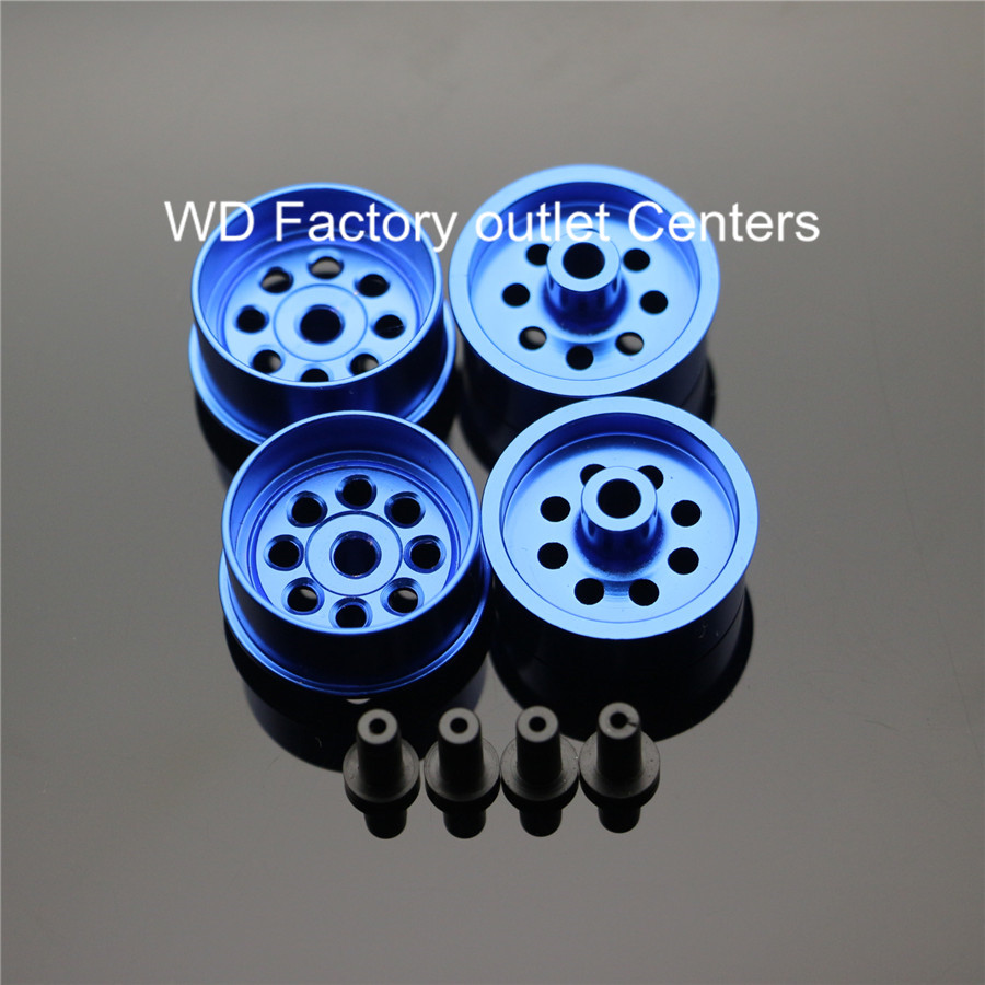 RFDTYGR Large Diameter Wheels Self-made Parts For Tamiya MINI 4WD Colored Wheel w/Aluminum Disc  L001 1Sets /lot
