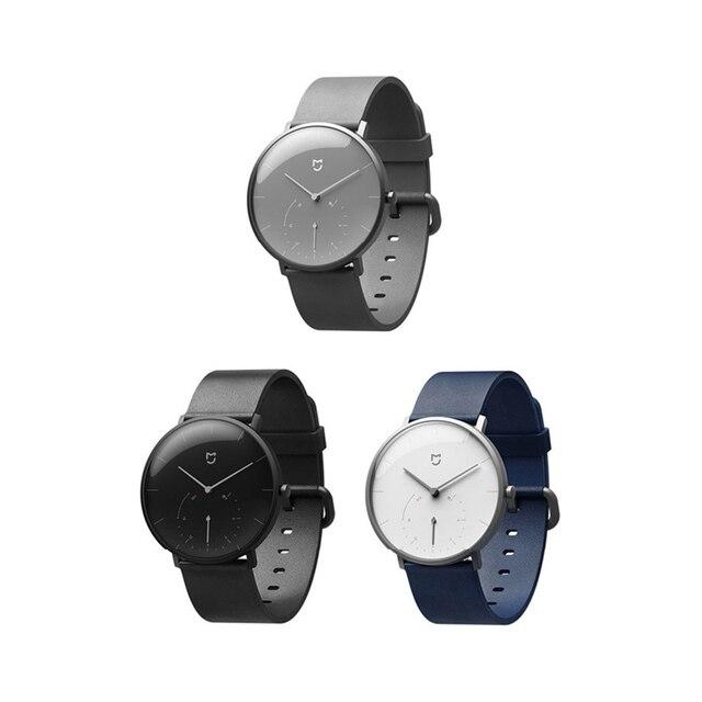 Xiaomi Mijia クォーツスマート腕時計 3ATM 防水歩数計ステンレス鋼ケースインテリジェント振動腕時計防水ギフト