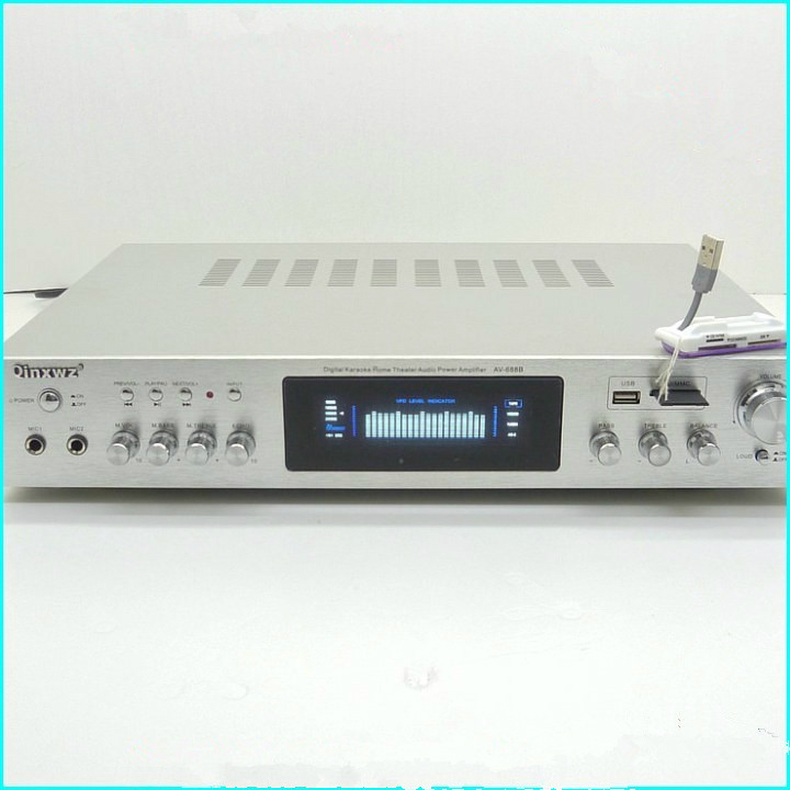 AV-688B 600W 5 channel amplifier professional digital Karaoke home theater amplifier / HiFi amplifier