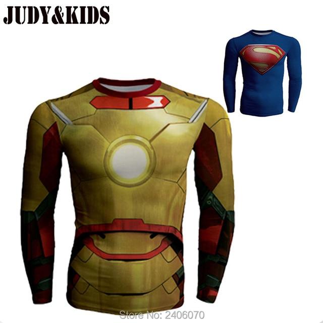 Bodybuilding Fitness Compression Captain America 3D T-Shirt Marvel Avengers teenage costume spiderman superman batman Tops