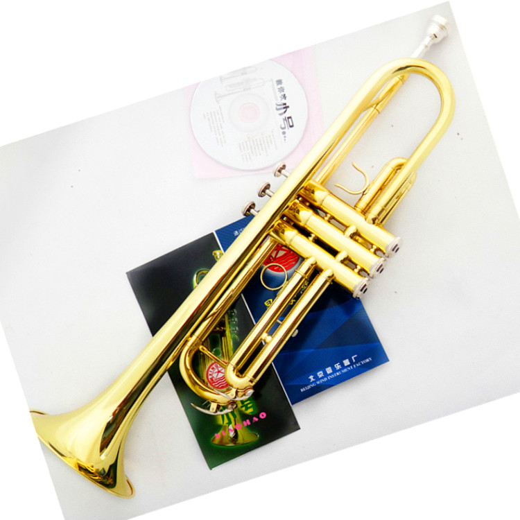 Mp3 Small musical instrument western musical instruments b Small gold silver lubricating  Trumpet Инструмент