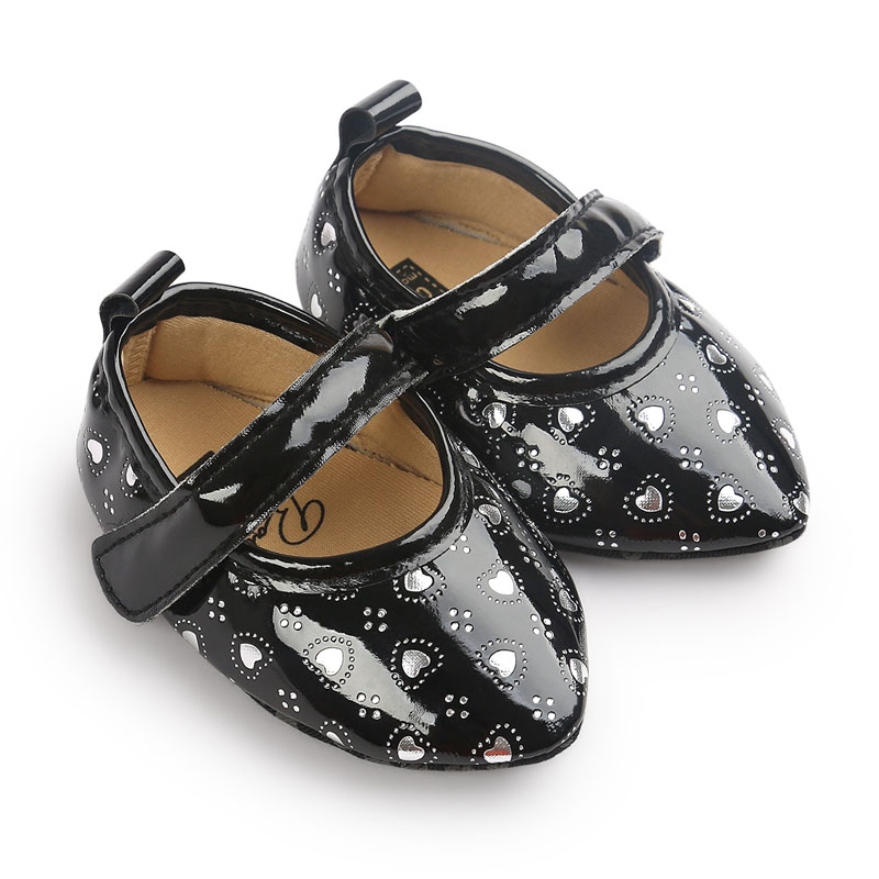 Lovely Princess Newborn Toddler Prewalker Soft Crib Baby Girl Party Wedding Dress Shoes Bebe Footwear Non Slip Ballet