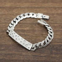 Sterling silver S925 fashion hipster accessories punk wind bracelet retro sterling silver stars chain trend jewelry S140