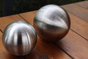 Diâmetro 100 milímetros bola de luz mudo 10 cm desenho fio de aço inoxidável bola bola oca bola decoração artigos de decoração decorativos