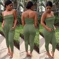 2016 verão novo 3 cores da moda mulheres macacão e macacão sem alças das mulheres sexy bodysuits one piece macacões elegantes NX114