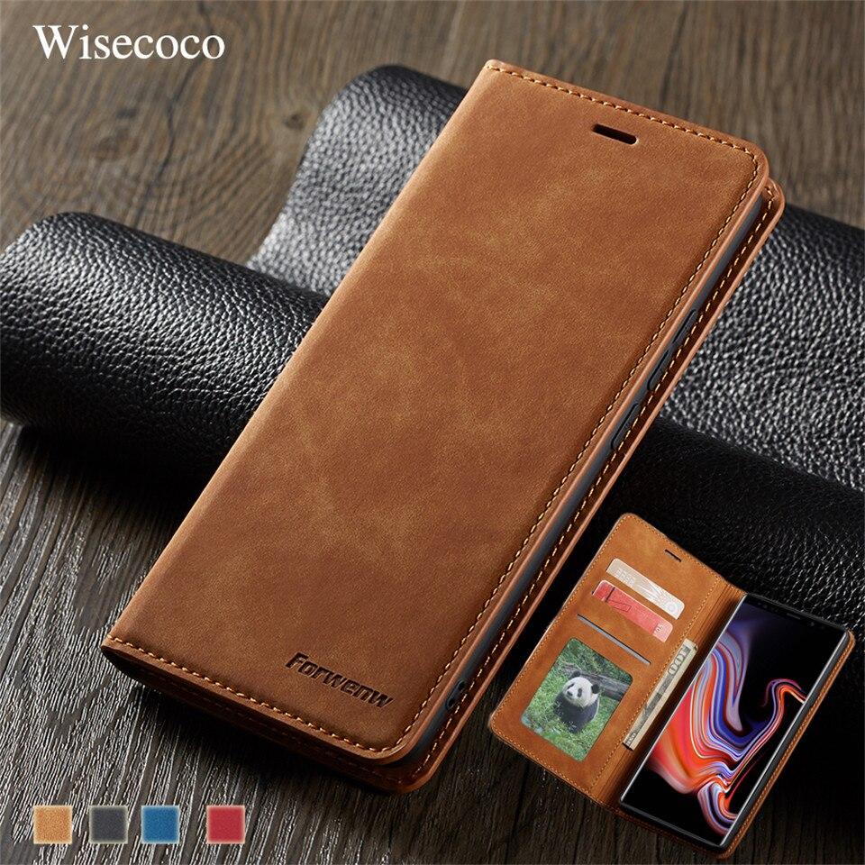 Кожаный чехол с откидной крышкой для samsung Galaxy Note 9 S10 S9 S8 J4 J6 плюс A6 A7 A8 2018 A30 A40 A50 A60 A70 A80 A90 бумажник на магните чехол