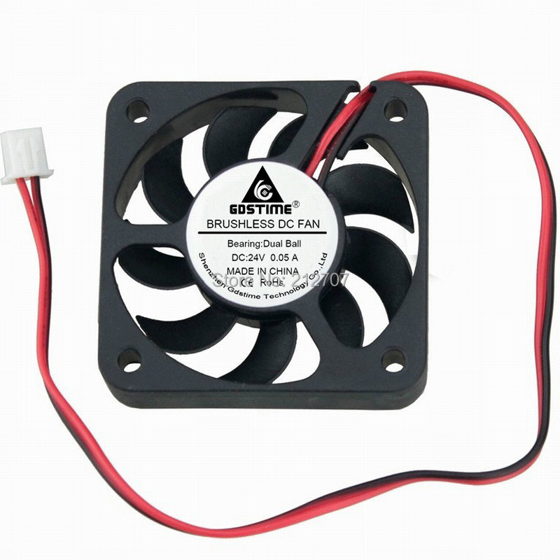 5pcs 5V 50mm x 50mm x 10mm 5cm 5010 2pin Mini Brushless Cooler DC Cooling Fan