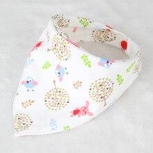 Baby bibs High quality triangl double layers cotton baberos Cartoon Character Animal Print baby bandana bibs dribble bibs